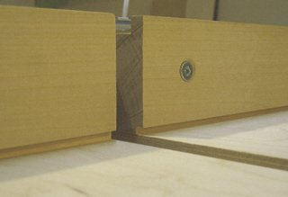 Crosscut sled - a rabbet was cut in the bottom of fence.