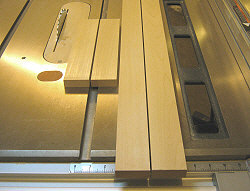 Building cabinet doors - the styles and rails are cut to size.