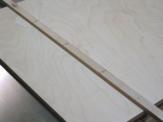 Crosscut sled - Lines are drawn on 