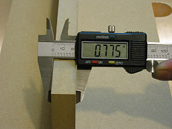 Dado blade - measuring the mdf stock.