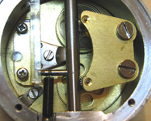 Dial indicator -  close-up of inside gears.