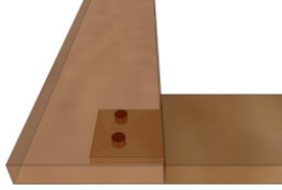 Dowel joint - a pinned mortise and tenon joint.