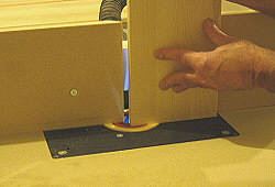 Drawer fronts - the panel is then flipped counter-clockwise for the second cut.