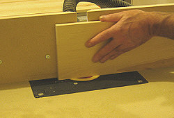 Drawer fronts - the first cut is along the grain.