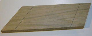 Draw lines on featherboard at thirty degree's