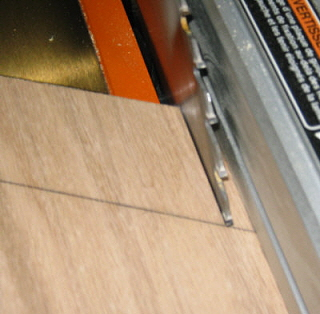 Start cutting fingers on featherboard