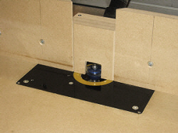 Router table fence - insert molded to shape of bit.