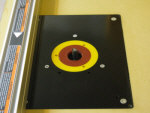 Install a router table insert plate.