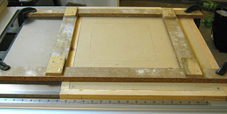 The router table insert template ready to use.