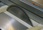 Zero clearance table saw insert.