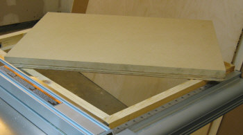 Table saw router table--laminated top; 3/4