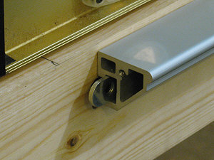 A t nut is used for the inside of the t slot on the fence rail.