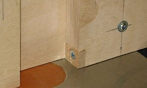 Box joint jig - the index pin 