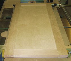Building cabinet doors - clamping the assembly.
