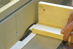 Building cabinet doors - cutting the other side of the tenon.