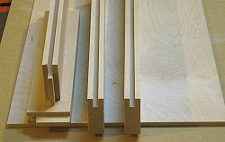 Building cabinet doors - the finished parts ready to be assembled.