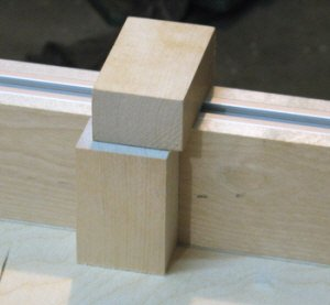 Crosscut sled - making a stop block.
