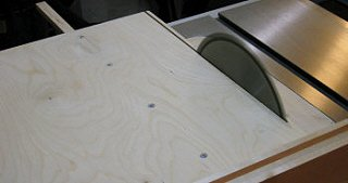 Crosscut sled - trimming the sled.