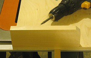 Dado jig - the short stub fence is attached to the crosscut sled.