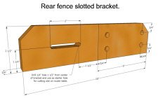 Dado-jig - rear fence bracket sketchup model.
