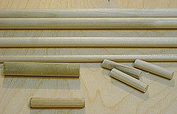 Dowel joint - some different types of dowels.