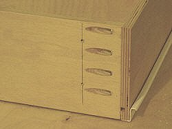 Drawer fronts - drilling pilot holes in drawer box front panel.