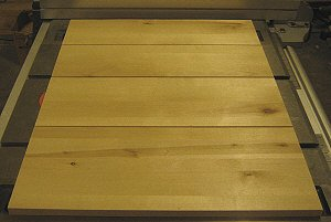 Drawer fronts - Panels are planed to thickness and trimmed to final dimensions.
