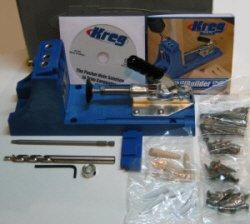 Everything shown here comes with the kreg pocket hole jig model K4.