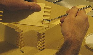 Making box joints.