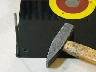 Router table insert - using a transfer 