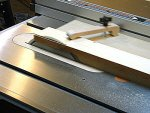 Table saw jointing jig.