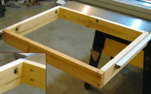Table saw router table outer frame.