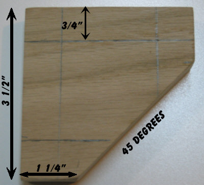 Measure and cut the stop block